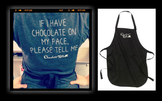 Chocolate Tofino Shirt and Apron