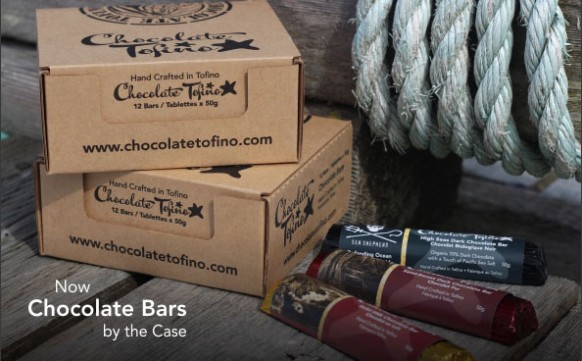 Cases of Chocolate Tofino Bars!