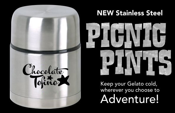Chocolate Tofino Stainless Steel Picnic Pints